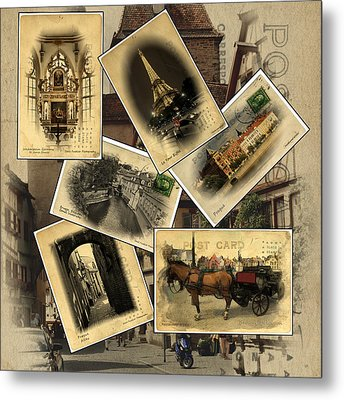 Postcards From Europe Metal Print by Cecil Fuselier