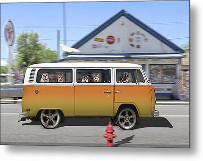 Postcards From Otis - Road Trip  Metal Print by Mike McGlothlen