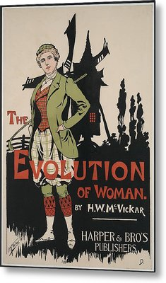 Poster Advertising The Evolution Of Metal Print by Everett