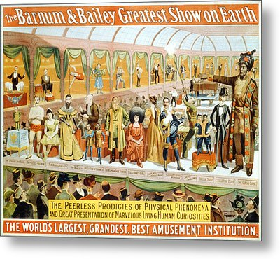 Poster For The Barnum And Bailey Metal Print by Everett