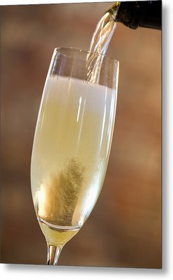 Pouring Champagne Metal Print by Datacraft Co Ltd