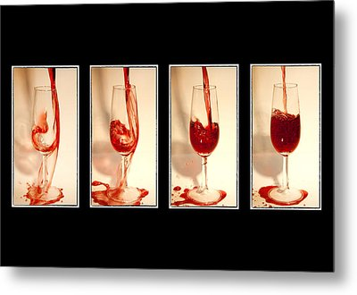 Pouring Red Wine Metal Print by Svetlana Sewell