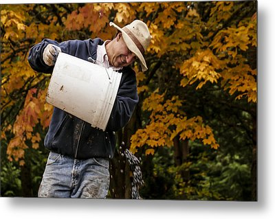 Pouring Wine Metal Print by Jean Noren