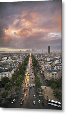 Pov From Arch Of Triumph Metal Print by © Yannick Lefevre - Photography