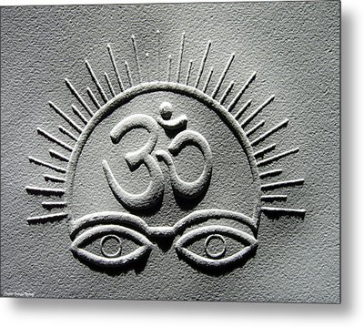 Power Of Om Metal Print