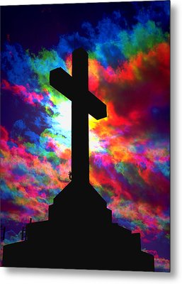 Power Of The Cross Metal Print