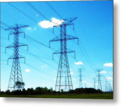 Power Walking Metal Print by MJ Olsen