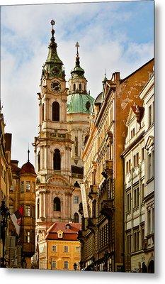 Prague - St. Nicholas Church Lesser Town Metal Print by Christine Till