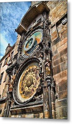 Prague Astronomical Clock Metal Print by Jon Berghoff