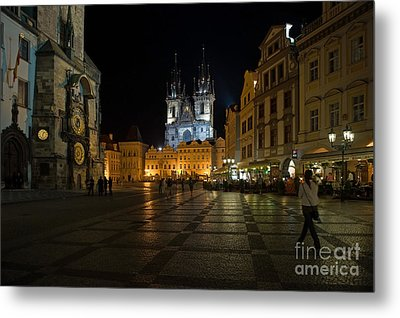 Prague City Square Metal Print