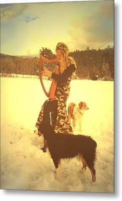 Praise Him With The Harp And All Ye Shepherd Dogs Metal Print by Anastasia Savage Ealy