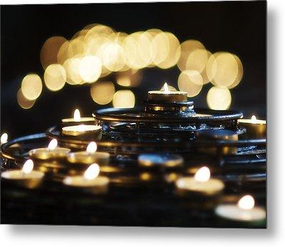 Prayer Candles Metal Print by Beth Riser