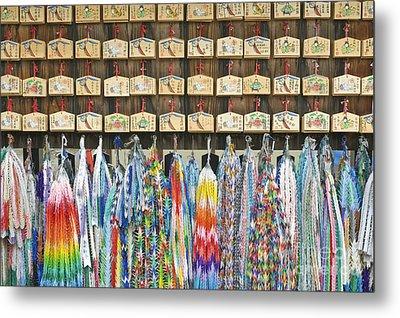 Prayer Plaques & Origami Cranes Metal Print by Rob Tilley