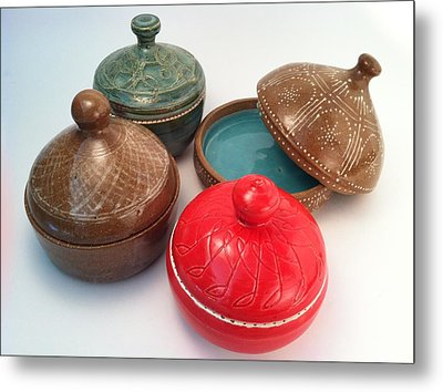 Prayer Pots Metal Print by Carolyn Coffey Wallace