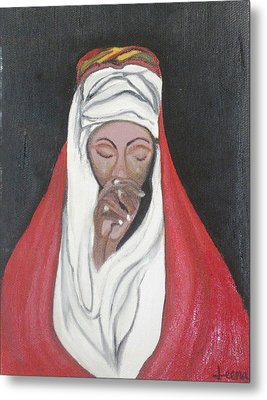 Praying Woman-oil Painting Metal Print by Rejeena Niaz