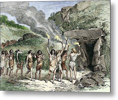 Prehistoric Human Funeral Metal Print by Sheila Terry