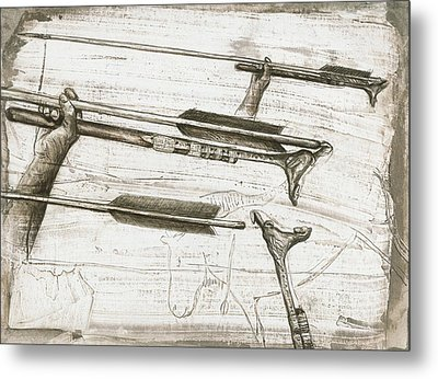 Prehistoric Spear-thrower Metal Print by Kennis And Kennismsf