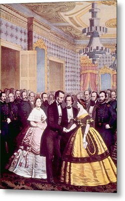 President Abraham Lincoln And First Metal Print by Everett
