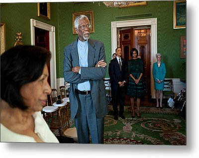 President And First Lady Michelle Obama Metal Print by Everett