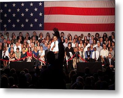 President Barack Obama Answers Metal Print by Everett