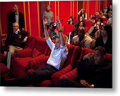 President Barack Obama Celebrates Metal Print by Everett
