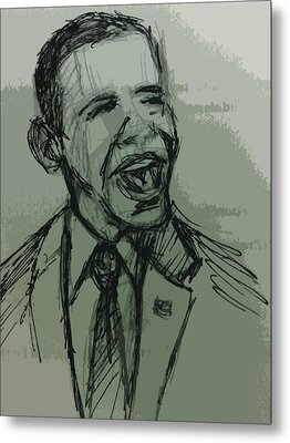 President Barack Obama Metal Print by William Winkfield