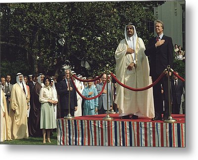 President Carter And Prince Fahd Bin Metal Print by Everett