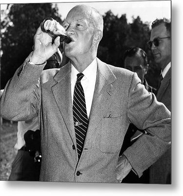 President Dwight D. Eisenhower Downing Metal Print