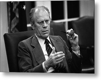 President Ford During A National Metal Print by Everett