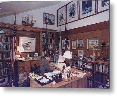 President George Bush Works Metal Print by Everett