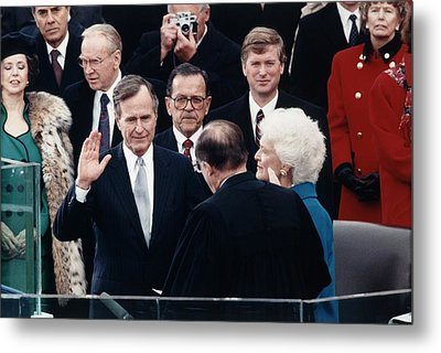 President George Herbert Walker Bush Metal Print by Everett