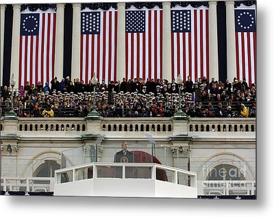 President George W. Bush Makes Metal Print by Stocktrek Images
