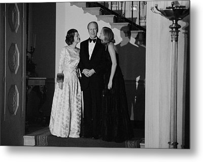 President Gerald Ford Betty Ford Metal Print by Everett