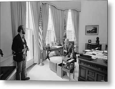 President Gerald Ford Chatting Metal Print by Everett
