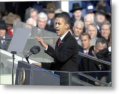 President Obama Called For A New Era Metal Print by Everett