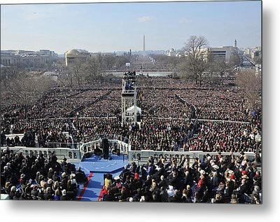 President Obama Delivers His Inaugural Metal Print by Everett