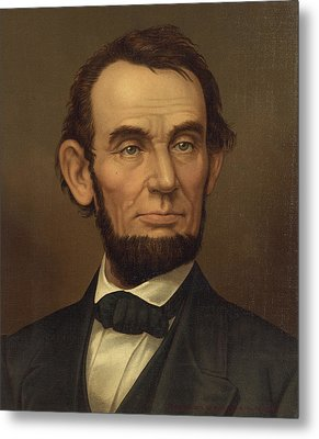 Metal Print featuring the photograph President Of The United States Of America - Abraham Lincoln  by International  Images