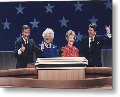 President Reagan Nancy Reagan Metal Print by Everett