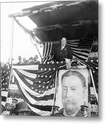 President Taft Giving A Speech In Augusta - Georgia C 1910 Metal Print by International  Images