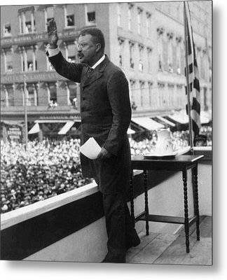 President Theodore Roosevelt Delivering Metal Print by Everett