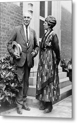 President Warren Harding With First Metal Print by Everett