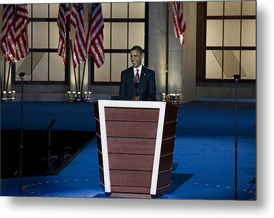 Presidential Candidate Barack Obama Metal Print by Everett