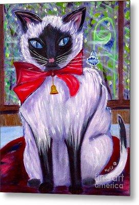 Pretty Fat Cat Metal Print by Phyllis Kaltenbach