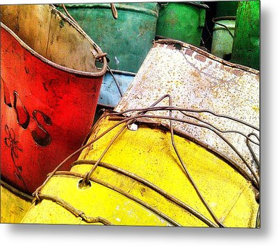 Primary Colors Metal Print by Olivier Calas