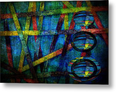 Primary Three Rectangle Metal Print by Angelina Vick