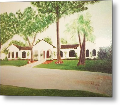 Prince Faisal's Home In Fl Metal Print by Alanna Hug-McAnnally