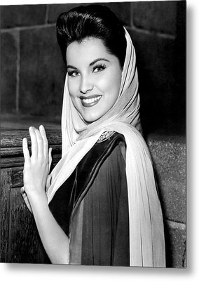 Prince Valiant, Debra Paget, On-set Metal Print