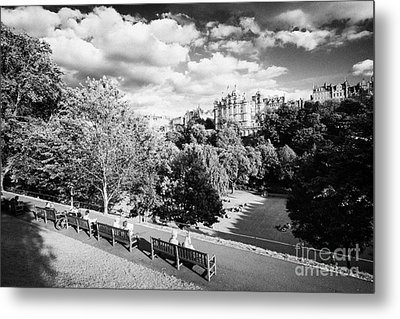 Princes Street Gardens In Edinburgh City Centre Scotland Uk United Kingdom Metal Print by Joe Fox