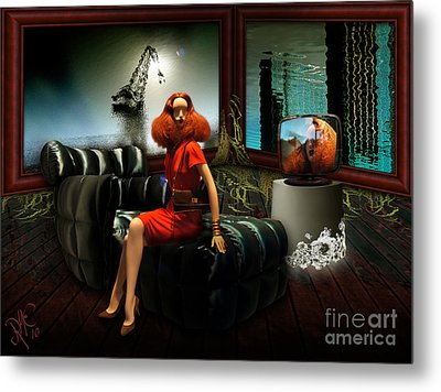 Metal Print featuring the digital art Princess Of The River by Rosa Cobos