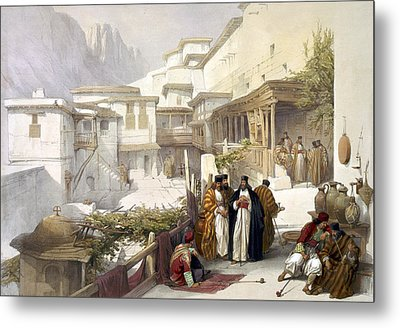Principal Court Of The Convent Of St. Catherine Metal Print by Munir Alawi